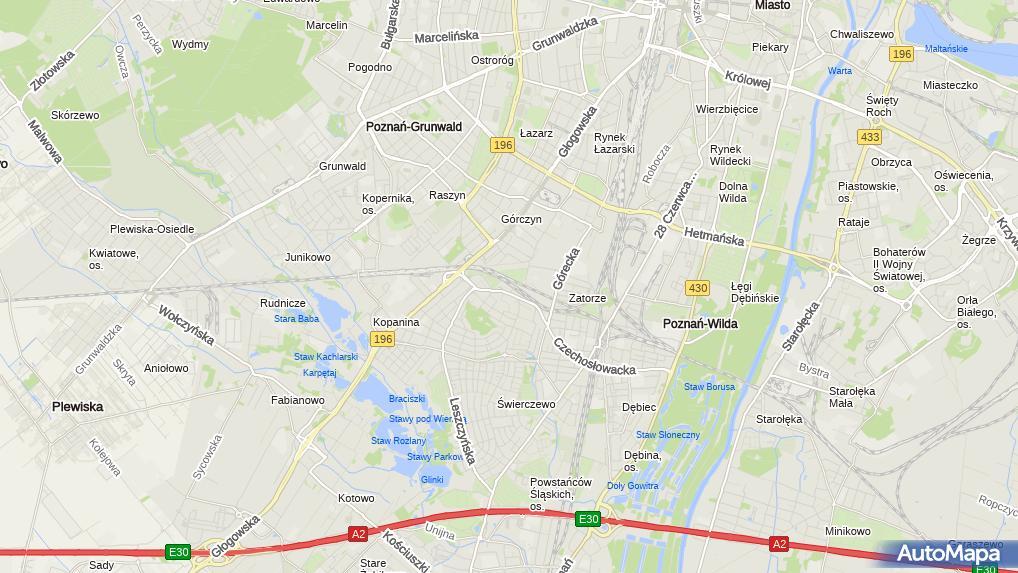 Sprawdź ceny paliw na stacji STATOIL przy Chartowo 21, Poznań.