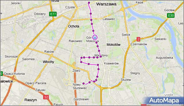Rozkład jazdy autobusu N36 na przystanku MADALIŃSKIEGO 02. ZTM Warszawa na mapie Targeo