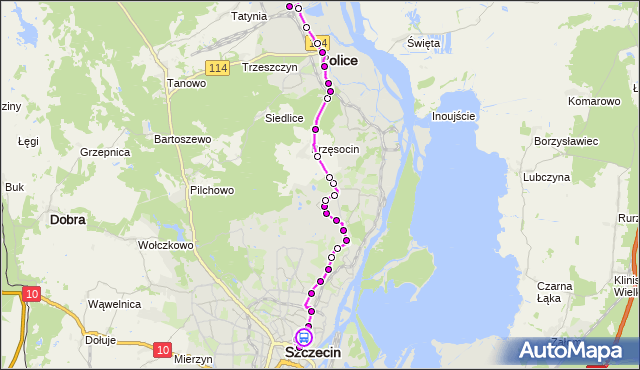 Rozkład jazdy autobusu 101 na przystanku Matejki 12. ZDiTM Szczecin na mapie Targeo