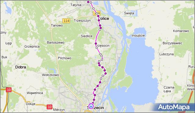 Rozkład jazdy autobusu 101 na przystanku Plac Rodła 22. ZDiTM Szczecin na mapie Targeo