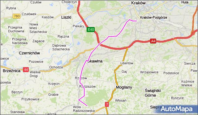 Rozkład jazdy autobusu 253 na przystanku Radziszów. MPKKrakow na mapie Targeo