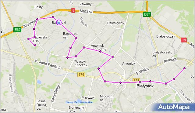 Rozkład jazdy autobusu 18 na przystanku Produkcyjna/Neptuna. BKM na mapie Targeo