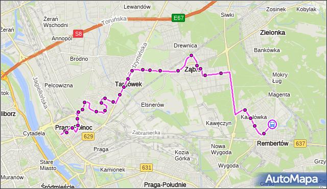Rozkład jazdy autobusu 199 na przystanku REMBERTÓW-AKADEMIA 01. ZTM Warszawa na mapie Targeo