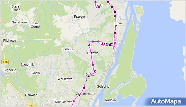 Rozkład jazdy autobusu 63 na przystanku Boguchwały 32. ZDiTM Szczecin na mapie Targeo