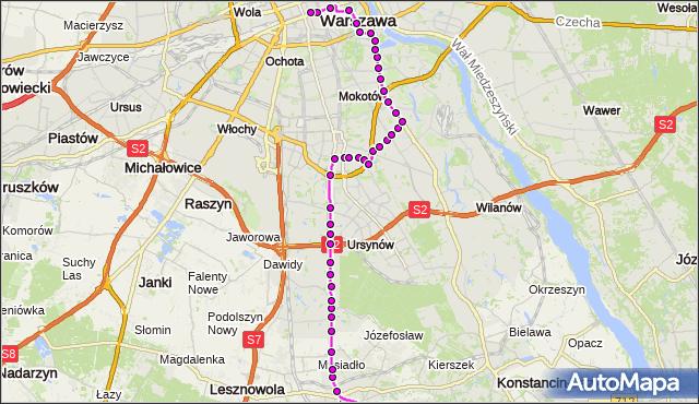Rozkład jazdy autobusu N83 na przystanku POWSTAŃCÓW WARSZAWY 02. ZTM Warszawa na mapie Targeo