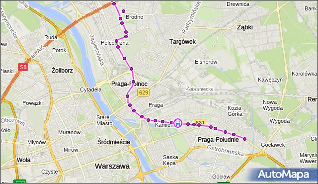 Rozkład jazdy autobusu 3 na przystanku PRAGA-PŁD.-RATUSZ 04. ZTM Warszawa na mapie Targeo