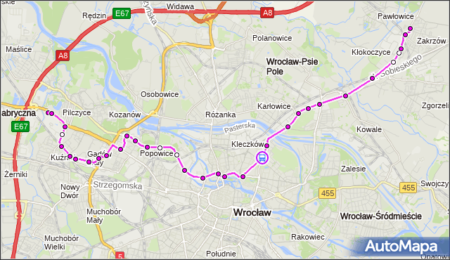 Rozkład jazdy autobusu 128 na przystanku Wyszyńskiego. MPKWroclaw na mapie Targeo