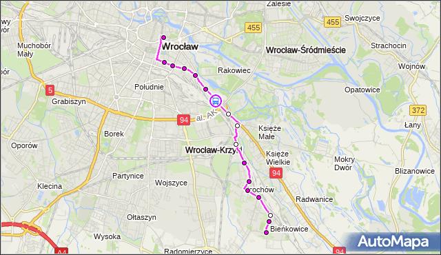 Rozkład jazdy autobusu 114 na przystanku KRAKOWSKA (Centrum handlowe). MPKWroclaw na mapie Targeo