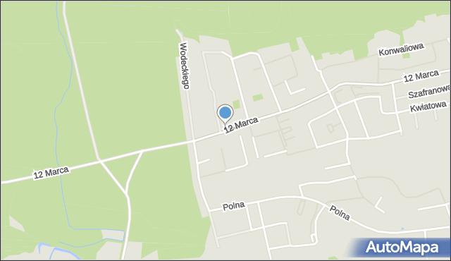 Reda, 12 Marca, mapa Reda