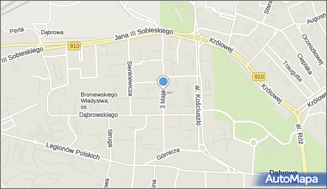 Dąbrowa Górnicza, 3 Maja, mapa Dąbrowa Górnicza