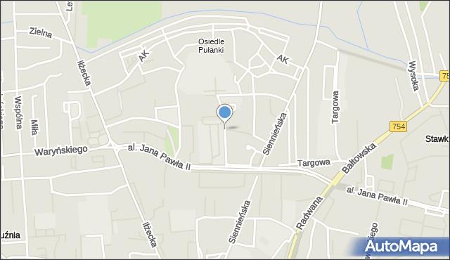 Ostrowiec Świętokrzyski, Akademicka, mapa Ostrowiec Świętokrzyski