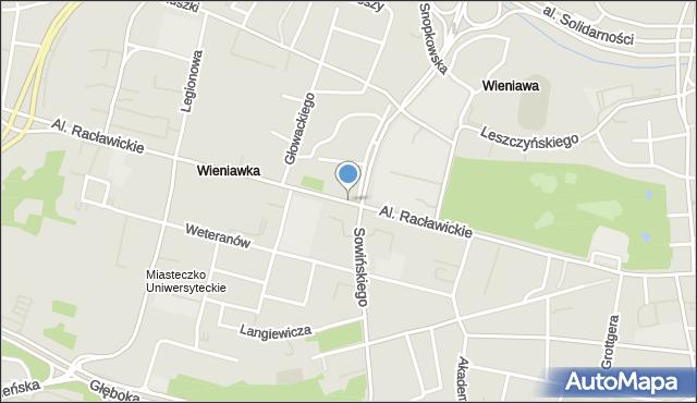 Lublin, Aleje Racławickie, mapa Lublina