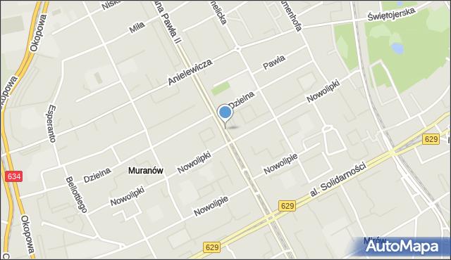 Warszawa, Aleja Jana Pawła II, mapa Warszawy