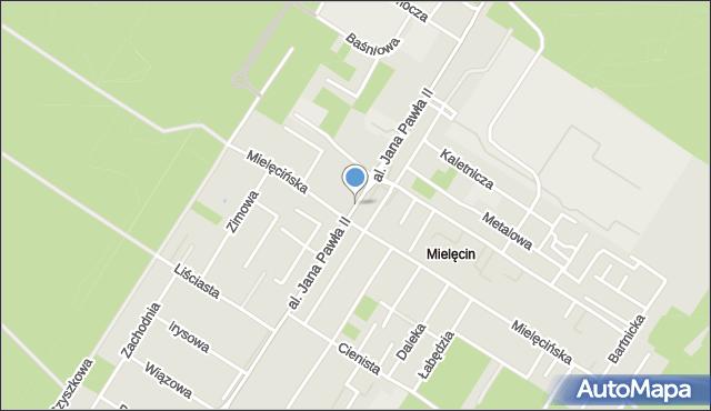 Włocławek, Aleja Jana Pawła II, mapa Włocławka