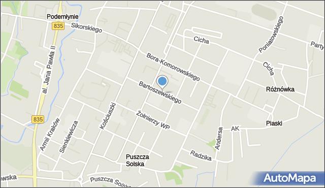 Biłgoraj, Bartoszewskiego, mapa Biłgoraj