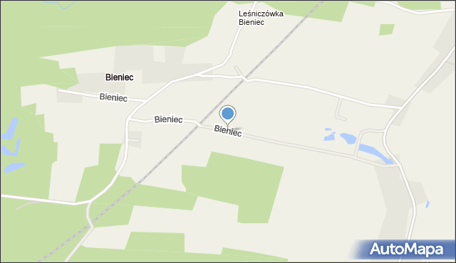 Bieniec, Bieniec, mapa Bieniec