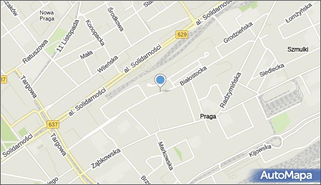 Warszawa, Białostocka, mapa Warszawy