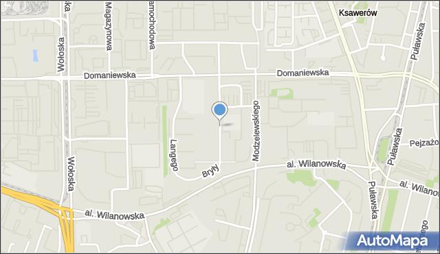 Warszawa, Bryły Stefana, mapa Warszawy