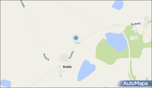 Budyty, Budyty, mapa Budyty