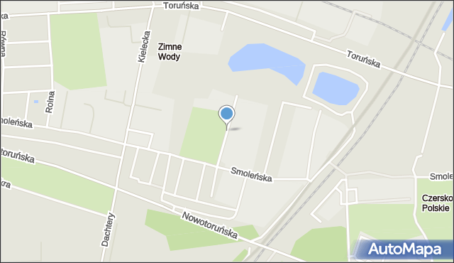 Bydgoszcz, Budowlana, mapa Bydgoszczy