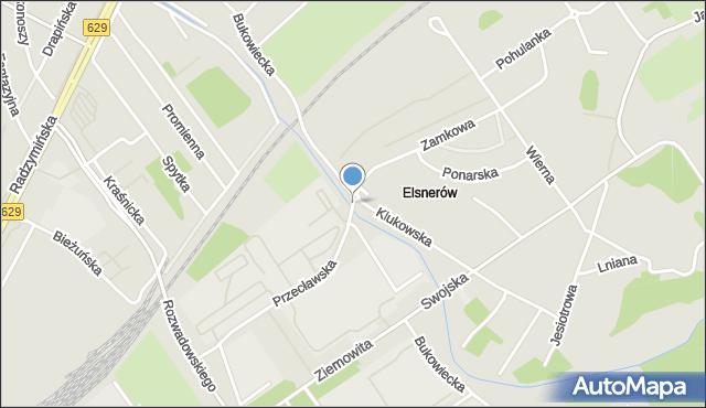 Warszawa, Bukowiecka, mapa Warszawy
