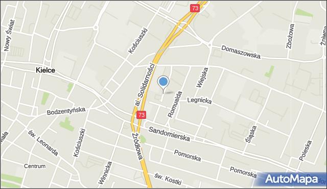 Kielce, Ceglana, mapa Kielc
