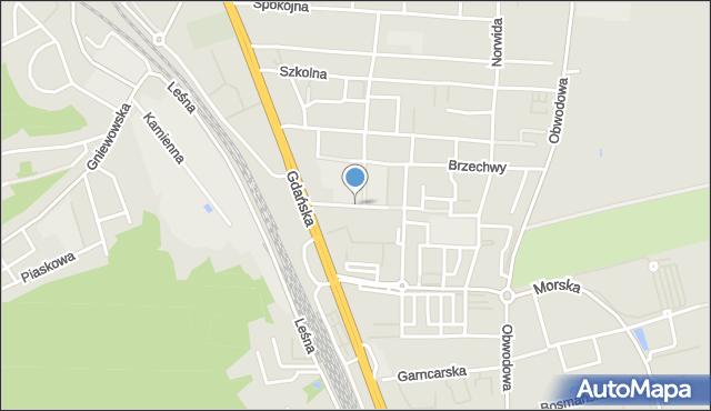 Reda, Ceynowy Floriana, mapa Reda