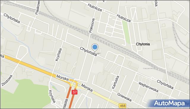 Gdynia, Chylońska, mapa Gdyni