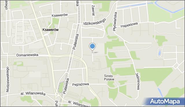 Warszawa, Cieszyńska, mapa Warszawy