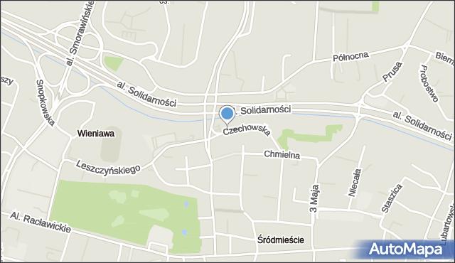 Lublin, Czechowska, mapa Lublina