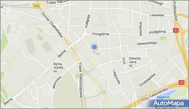 Toruń, Czarlińskiego Leona, mapa Torunia