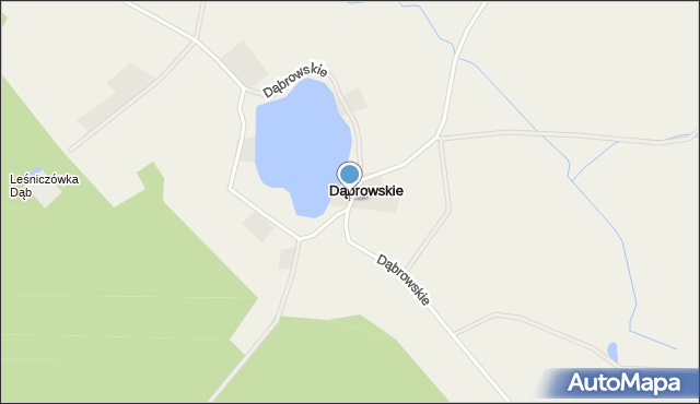 Dąbrowskie, Dąbrowskie, mapa Dąbrowskie