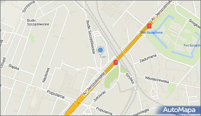 Warszawa, Daimlera Gottlieba, mapa Warszawy