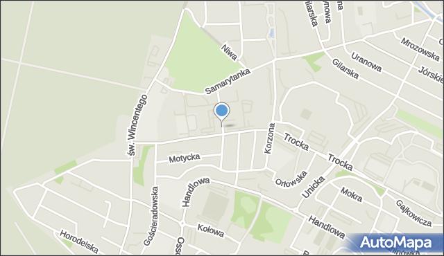 Warszawa, Dalanowska, mapa Warszawy