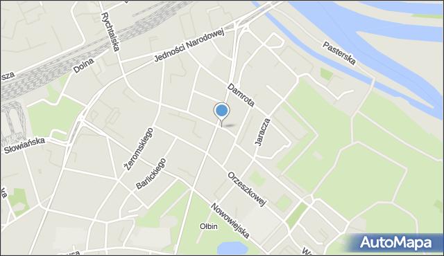 Wrocław, Daszyńskiego Ignacego, mapa Wrocławia