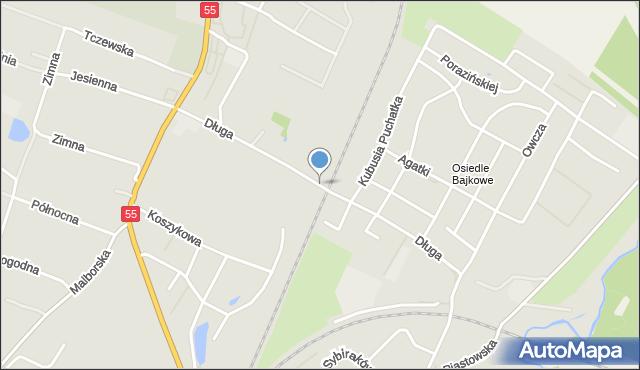 Kwidzyn, Długa, mapa Kwidzyn