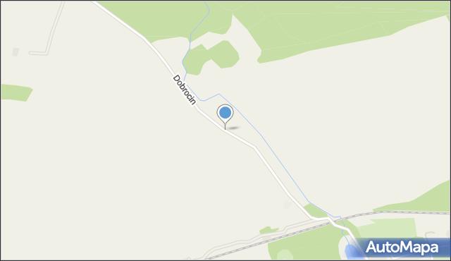 Dobrocin gmina Małdyty, Dobrocin, mapa Dobrocin gmina Małdyty
