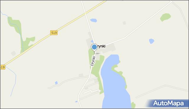 Drynki, Drynki, mapa Drynki