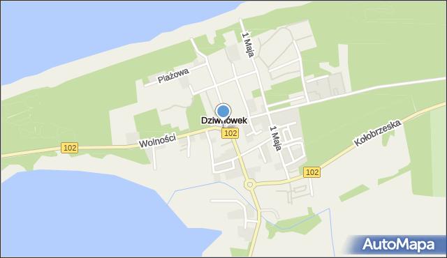 Dziwnówek, Dziwnówek, mapa Dziwnówek