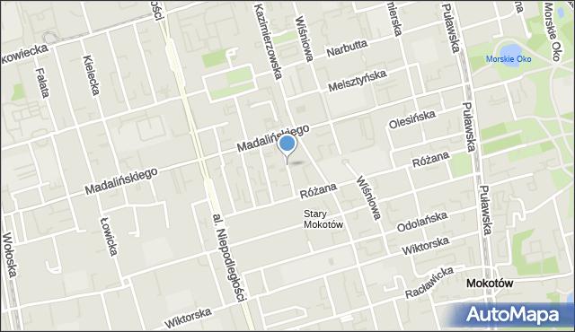 Warszawa, Falęcka, mapa Warszawy