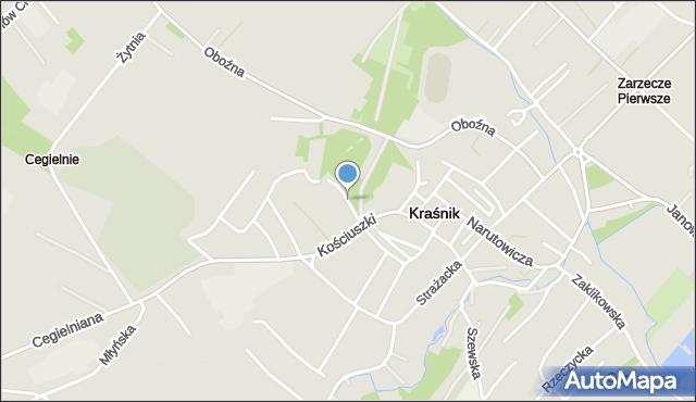 Kraśnik, Festiwalowa, mapa Kraśnik