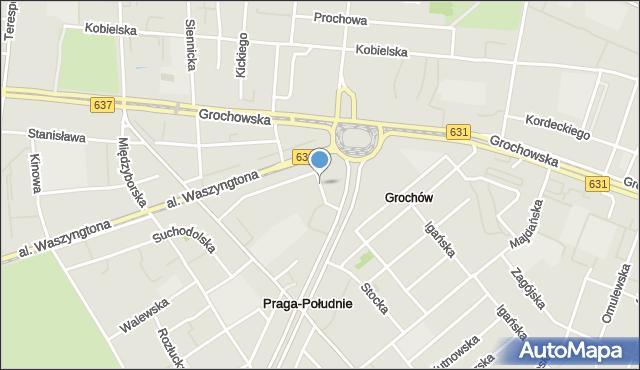 Warszawa, Garibaldiego Giuseppe, mapa Warszawy