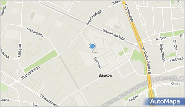 Warszawa, German Anny, mapa Warszawy