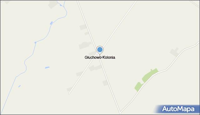 Głuchowo-Kolonia, Głuchowo-Kolonia, mapa Głuchowo-Kolonia