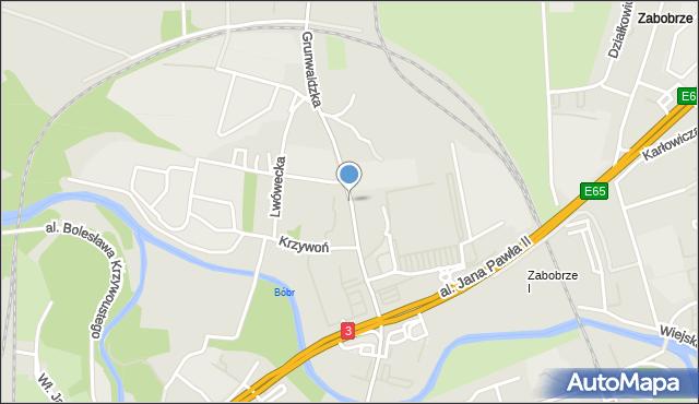 Jelenia Góra, Grunwaldzka, mapa Jelenia Góra