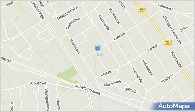 Warszawa, Gubinowska, mapa Warszawy