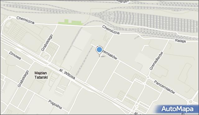 Lublin, Herc Lucyny, mapa Lublina