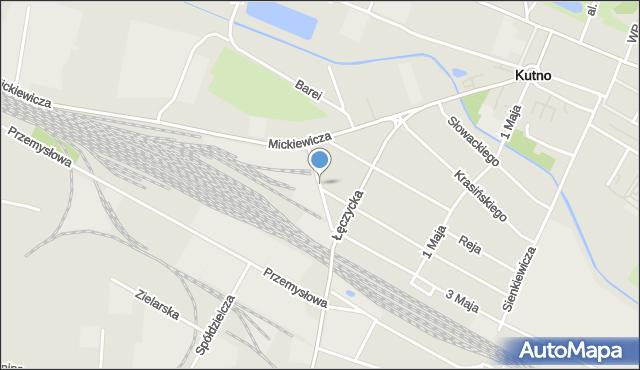Kutno, Jagiellońska, mapa Kutno
