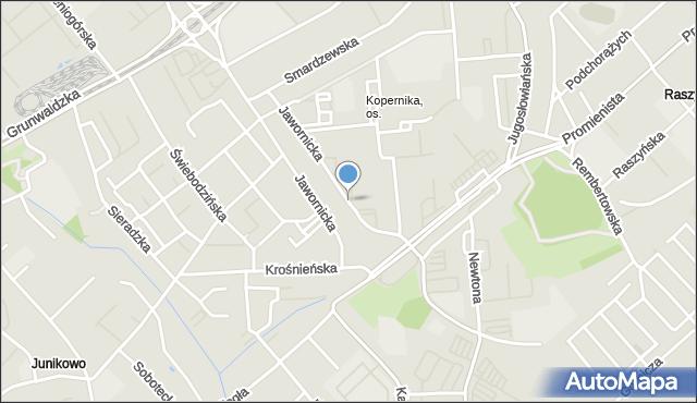 Poznań, Jawornicka, mapa Poznania