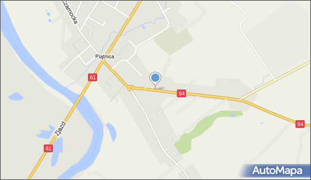 Piątnica Poduchowna, Jedwabieńska, mapa Piątnica Poduchowna